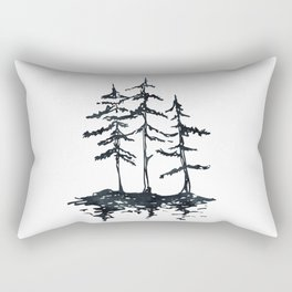 THE THREE SISTERS Black and White Rectangular Pillow