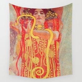 Gustav Klimt - Greek Goddess of Medicine Hygeia Wall Tapestry