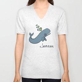 Whale Love Unisex V-Neck