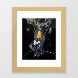 Punter with epic nose. 2011.  Framed Art Print