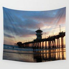 The Huntington Beach Pier Wall Tapestry