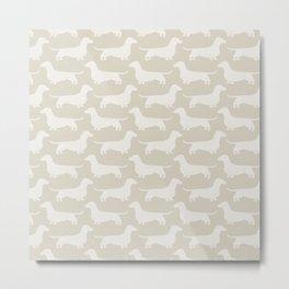 Dachshund Silhouette(s) Metal Print