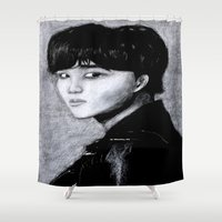 kpop Shower Curtains featuring Lone Kai by Ahri Tao