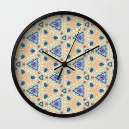 Honovi interlocked geo floral pattern Wall Clock