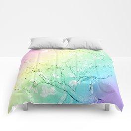 Van Gogh Almond Blossoms : Pastel Rainbows Comforters