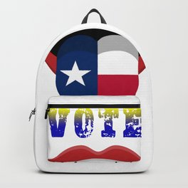 vote texas mouth shirt Backpack