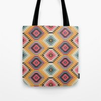navajo Tote Bags featuring Navajo Dreams by Bohemian Gypsy Jane