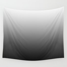 Black and White Gradient Wall Tapestry