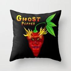 Ghost Pepper. Throw Pillow