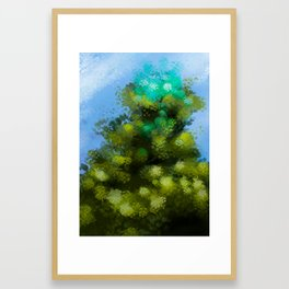 At the top of the tree (In cima all'albero) Framed Art Print