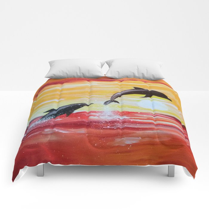 Dolphins Comforters