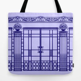 ART DECO, ART NOUVEAU IRONWORK: French Blue Tote Bag
