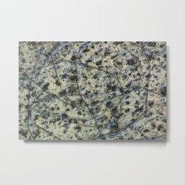 Scratched Granite Metal Print