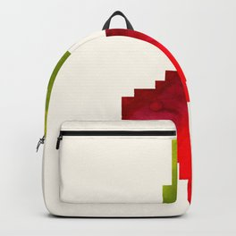 Beet Vegetable Pixel Watercolor Vegetable Red Colors Geometric Art Backpack
