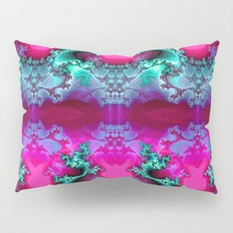 Here be Dragons (hot magenta-mint) Pillow Sham
