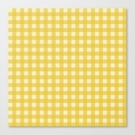 Mustard Yellow Buffalo Checks Canvas Print