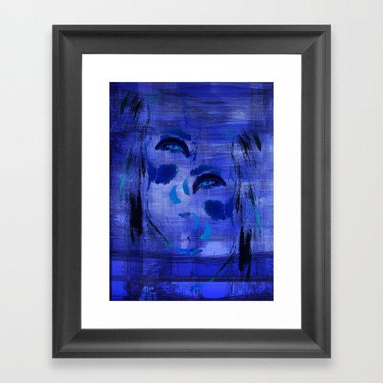 Blue Woman 2 Framed Art Print