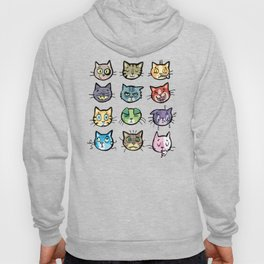 cat faces Hoody