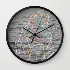 You Listen in Colors Wall Clock