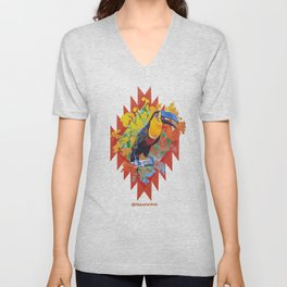 Eco Mural Project 10: Channel-Billed Toucan Unisex V-Neck