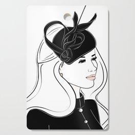 Meghan Markle Inspired Fascinator Portrait Cutting Board