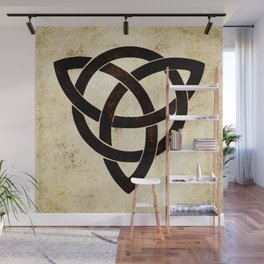 Celtic knot on old paper Wall Mural