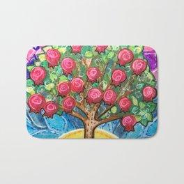 Pomegranate Tree Bath Mat
