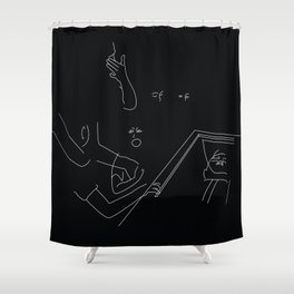 funerals are for the living Shower Curtain