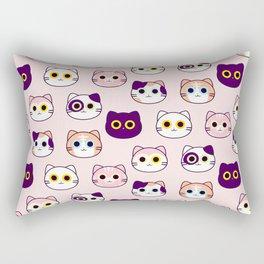Kitty Pattern- Pink Rectangular Pillow