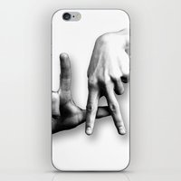 los angeles iPhone & iPod Skins featuring Los Angeles by big tony