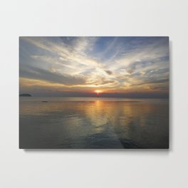 What time is sunset? Metal Print