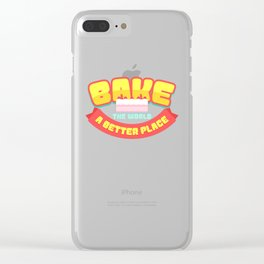 Bake the world a better place   Cupcake Muffin design Gift Clear iPhone Case