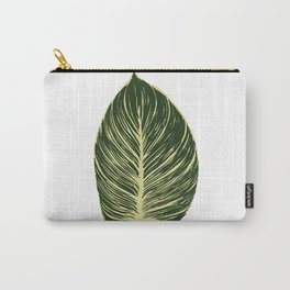 Philodendron Birkin leaf Carry-All Pouch