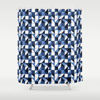blues Shower Curtains featuring Blues by jozi.art