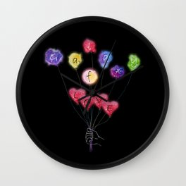 Galaxy of Love V All Over Print Shirts Wall Clock