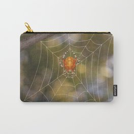 marbled orb weaver on a web Carry-All Pouch