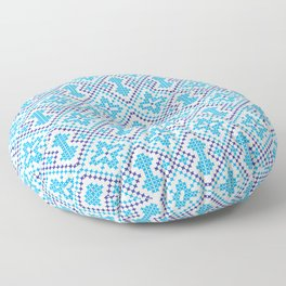 Blue embroidery pattern Floor Pillow