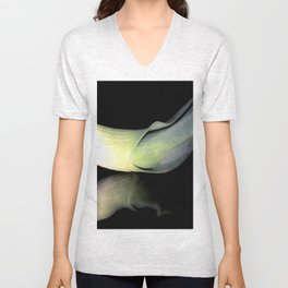 Leek on Black Unisex V-Neck