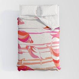 Pink fish Comforters