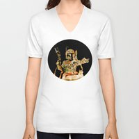 boba V-neck T-shirts featuring Boba by Robotic Ewe