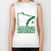 minnesota Biker Tanks featuring Minnesota Represent by MNREPSHOW