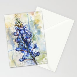 Spring Watercolor Texas Bluebonnet Flowers Stationery Cards
