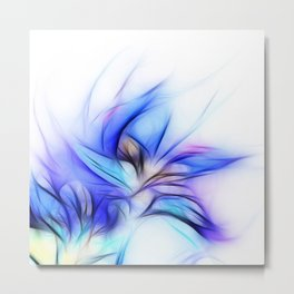 Night Bloom Invert Metal Print