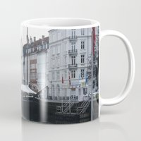 denmark Mugs featuring Denmark by Kayleigh Rappaport