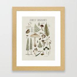 Forest treasures on light background Framed Art Print