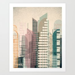 Theme for great cities No. 3 Art Print