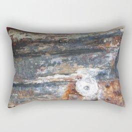 Flaky Blue Rectangular Pillow