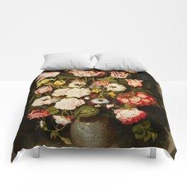 "Osias Beert ""Vase of flowers in a stone niche"" Comforters"