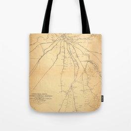 Map Of Nashville 1862 Tote Bag