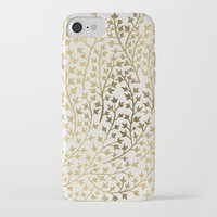 metallic iPhone & iPod Cases featuring Gold Ivy by Cat Coquillette